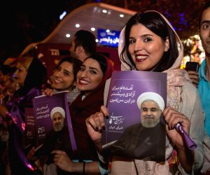 IRAN TEHRAN ELECTION ROUHANI CELEBRATION