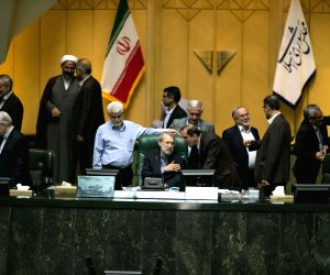 IRAN TEHRAN PARLIAMENT SPEAKER RE ELECTED