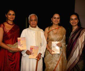"Tejaswini Kolhapure, Padmini Kolhapure and Shivangi at the ""Pandit Pandharinath Kolhapure's Book"" Launch at Ravindra Natya Mandir."