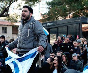 ISRAEL TEL AVIV MILITARY COURT ELOR AZARIA CONVICTION PROTEST