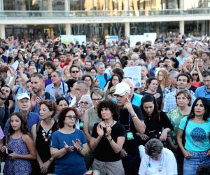 "ISRAEL TEL AVIV PROTEST ""JEWISH NATION STATE"" LAW"