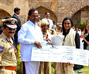 68th Independence Day celebrations - KCR & sportspersons