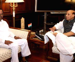 K. Chandrashekar Rao meets Rajnath Singh
