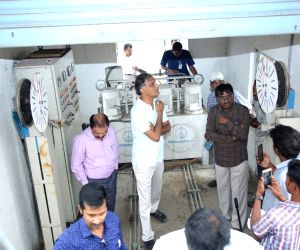 Harish Rao inspects work of Kaleshwaram lift irrigation project
