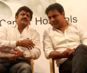 K.T. Rama Rao at the inauguration of hospital