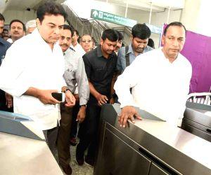 Hyderabad metro trial run