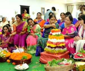 Bathukamma flower festival celebrations