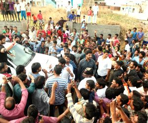 Telugu film actor Manchu manoj at vizag