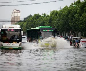 CHINA-SHANDONG-TENGZHOU-HEAVY RAIN