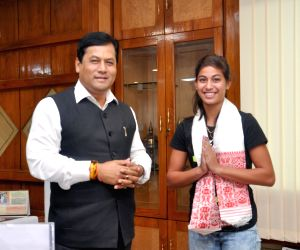 Tanisha Kashyap calls on Sarbananda Sonowal