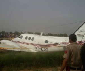 Air ambulance crash lands in Delhi, no casualties