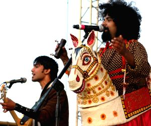 """The band Swarathma during the """"Rock 'N India 2010"""" music festival in New Delhi on Saturday."""