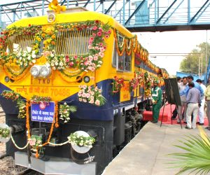 Dual Cab Freight Diesel Locomotive with Vacuum Toilet and Safety Interlocks flagged-off