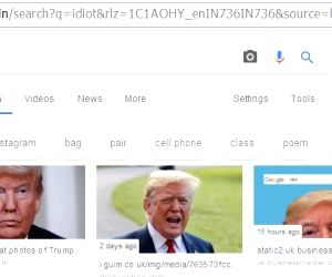 Google shows Trump's photo if you search for 'idiot
