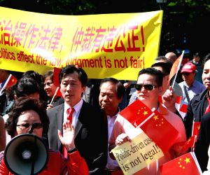 NETHERLANDS THE HAGUE CHINESE PROTEST