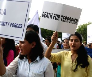 Protest march against terror attacks in J&K