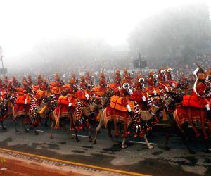 The Republic Day Parade at Rajpath on Teusday at New Delhi.