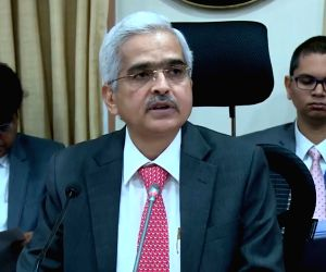 The Reserve Bank of India (RBI) Governor Shaktikanta Das addresses a press conference in Mumbai, on June 6, 2019.