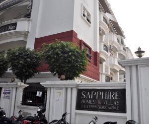 The residence of woman IAS officer B. Chandrakala, where Central Bureau of Investigation (CBI) carried out searches  in connection with its investigation into a case of illegal sand mining, ...