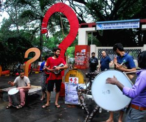 Demonstration against Gajendra Chauhan