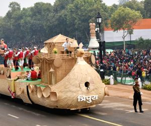 Republic day 2018 - Tripura tableau during rehearsal