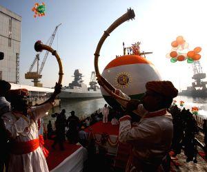 Scorpene - class submarine Karanj launched