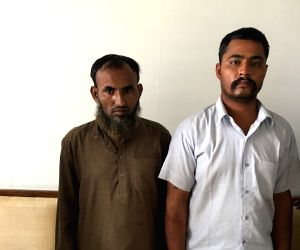 The two Indians, identified as Maulana Ramzan and Subhash Jangir, both residents of Rajasthan, who are being questioned for working with the Inter-Services Intelligence (ISI).