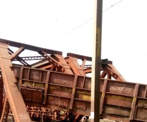 Goods train derails in Haryana, bogies fall in river