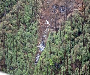 The wreckage of the the AN-32 aircraft that crashed in Arunachal Pradesh on June 3 was spotted at an approximate elevation of 12,000 feet 16 km north of Lipo, northeast of Tato under West Siang ...