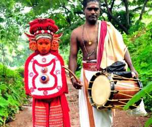 "Theyyam dancers embark on ""grama sancharam"