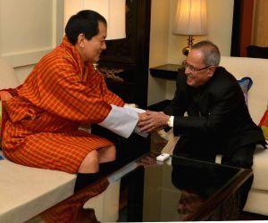 Fourth Druk Gyalpo calls on President Pranab Mukherjee