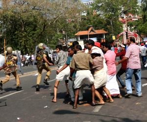 Lathi-charge on LDF demonstration