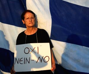 GREECE ATHENS DEBT CRISIS RALLY