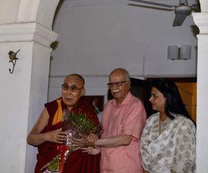 Dalai Lama meets Advani