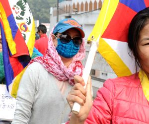 Tibetans rally - Climate Action for Tibet in the Paris UN COP21
