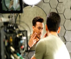Tiger Shroff recently spotted on the sets of Garnier Men for their latest skincare campaign.