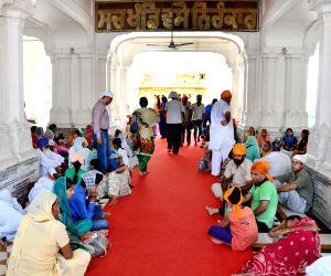 Devotees taking shelter in parikarma