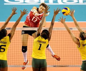 Turkey v/s Brazil during FIVB Women's Volleyball World Grand Prix 2014