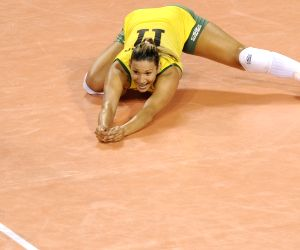 Belgium v/s Brazil during the FIVB Women's Volleyball World Grand Prix