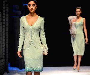 A woolen apparel fashion show in Tongxiang
