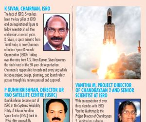 Top scientists in Chandrayaan-2 team