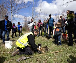 CANADA TORONTO EARTH DAY TREE PLANTING