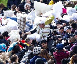 CANADA TORONTO PILLOW FIGHT