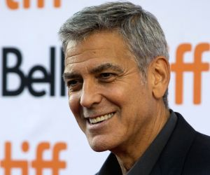 George Clooney looks happy, healthy post scooter crash