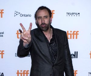 Unkempt Nic Cage is unrecognisable at film premiere