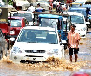 Flooded roads of Guwahati