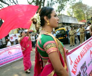 Transgenders stage a demonstration