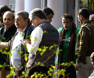 Trinamool leaders protest against arrest of party MPs