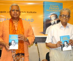 Tathagata Roy, Chittatosh Mookerjee during book launch