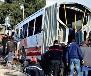 TUNISIA-TUNIS-BUS TRAIN CRASH